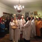 Karácsonyi másnapi főpapi szent liturgia a szegedi Szent György Nagyvértanú templomban
