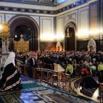 Kirill pátriárka beszéde a Vajhagyó vasárnapi esti istentiszteleten