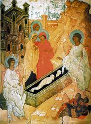 Krisztus feltámadásának hirül adása a kenetvivő asszonyoknak